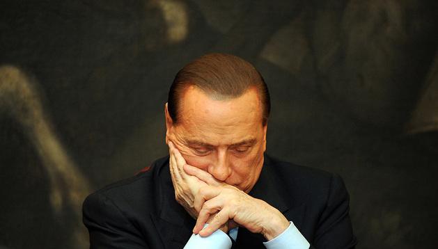 Imagen de archivo del primer ministro italiano, Silvio Berlusconi, en el Parlamento.