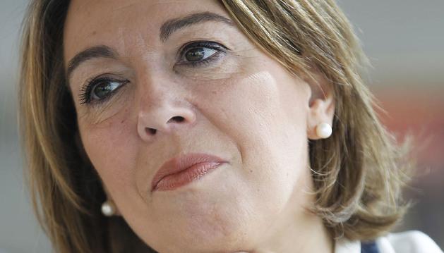 Amelia Salanueva, en un momento de la entrevista
