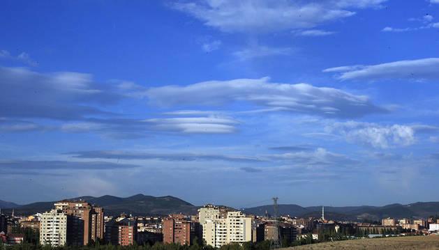 Nubes sobre la comarca de Pamplona.
