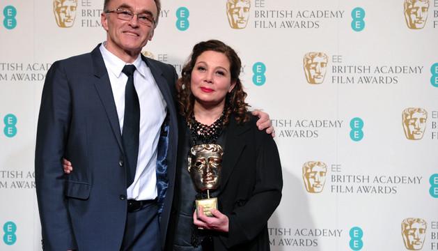 El director Danny Boyle, junto a Tessa Ross