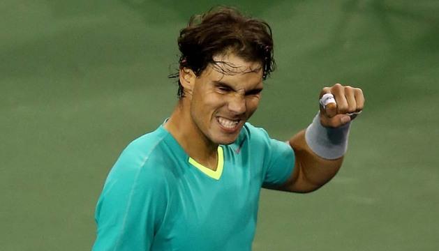 Rafael Nadal celebrando su triunfo