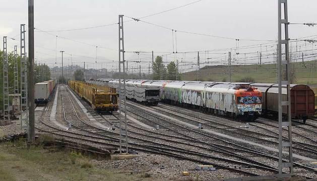 Imagen de la terminal intermodal de Mercancías de Noáin.