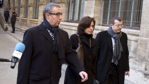 Diego Torres, su mujer Ana María Tejeiro y su abogado.