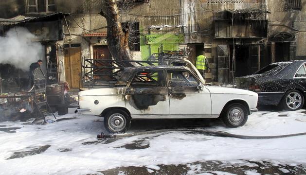 Bombardeos con morteros en Damasco
