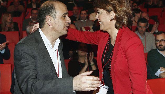 Catalán felicita a Barcina, que ha revalidado su cargo como líder de UPN.