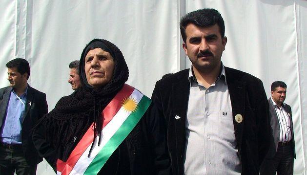Faisal Ibrahim y su madre, Um Faisal, supervivientes de la masacre de Halabja