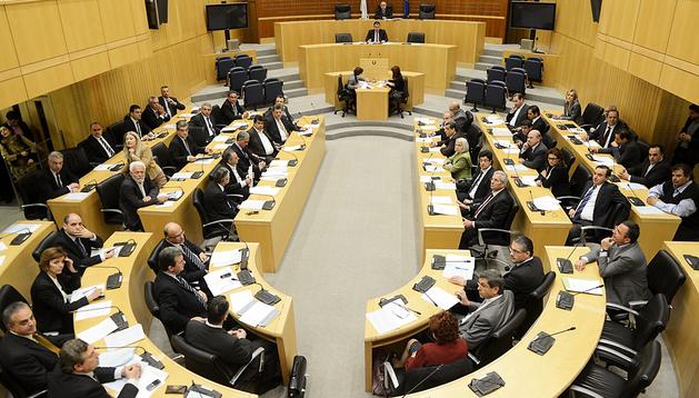Vista general del Parlamento de Chipre durante una sesión celebrada en Nicosia