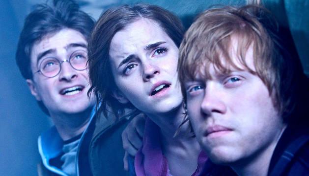 Harry Potter, Hermione y Ron.