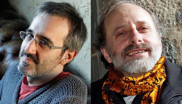 Los escritores Patxi Irurzun y Javier Irazoki