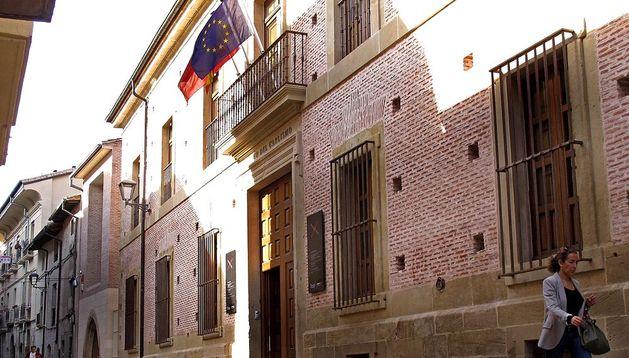 Fachada del Museo del Carlismo, en Estella