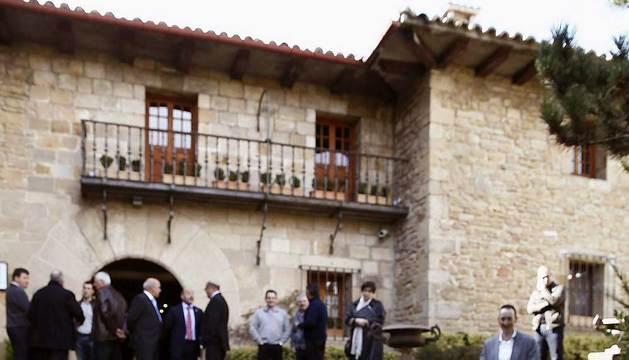 Yolanda Barcina, antes de asistir a la apertura de la asamblea de la Unión de Cooperativas Agrarias de Navarra.