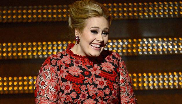 La cantante Adele, en la última entrega de los Grammy.