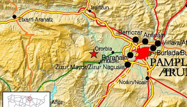 Epicentro del nuevo terremoto