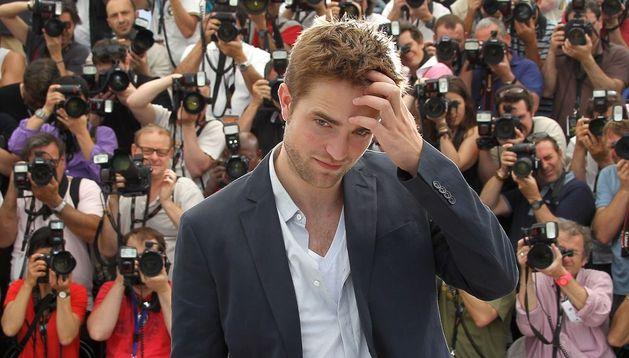 El actor Robert Pattinson en la presentación en Cannes de 'Cosmopolis'