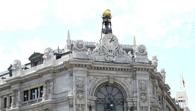 Vista exterior de la sede del Banco de España