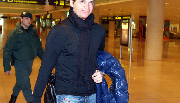 Francesc 'Tito' Vilanova, a su llegada hoy al aeropuerto de la capital catalana.