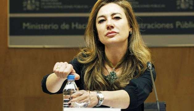 La secretaria de Estado de Presupuestos y Gastos, Marta Fernández Currás, explica los datos de ejecución presupuestaria de febrero