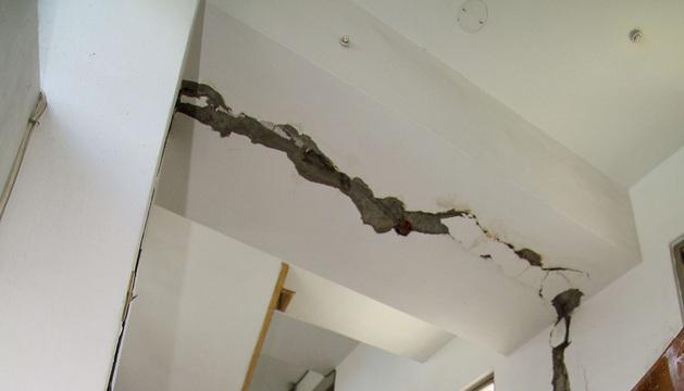 Numerosos edificios han resultado dañados por un terremoto en Taiwán. En la imagen, una vivienda en Taichung.