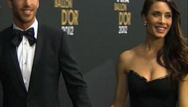 Sergio Ramos y Pilar Rubio, en la gala de entrega del Balón de Oro, el pasado mes de enero
