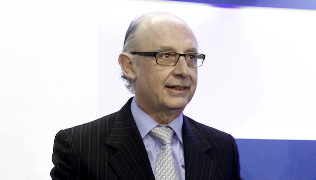 El ministro de Hacienda y Administraciones Públicas, Cristóbal Montoro, en el foro organizado por el diario La Razón.
