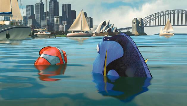 Escena de la película 'Buscando a Nemo'