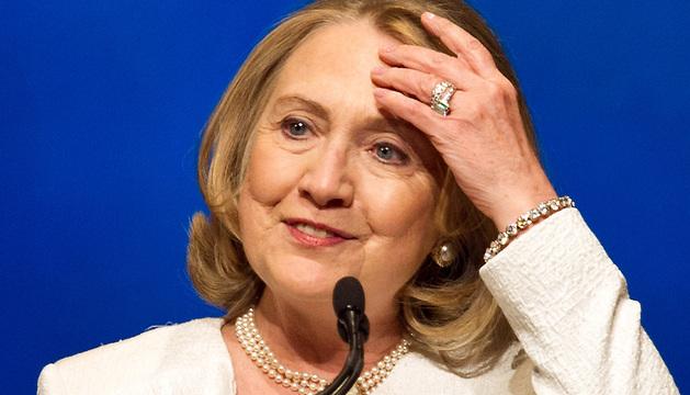 Hillary Clinton durante la ceremonia de los Premios Vital Voices Global.