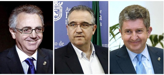 Imputados por las dietas de CAN Miguel Sanz, Enrique Maya y Álvaro Miranda