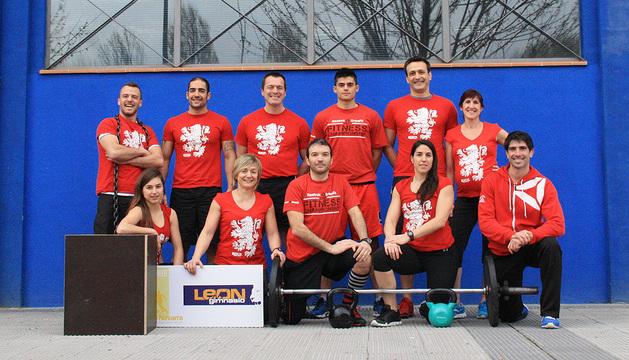 Parte de los integrantes del equipo Crossfit Pamplona.