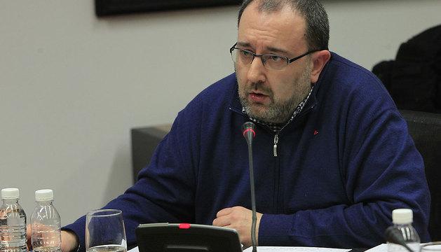 El coordinador general de Izquierda Unida de Navarra (IUN), José Miguel Nuin.