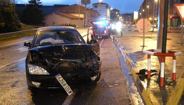 Imagen del vehículo tras la colisión