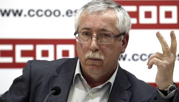 El secretario general de CC OO, Ignacio Fernández Toxo