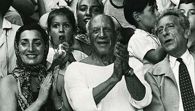 Pablo Picasso, en una imagen de 1955