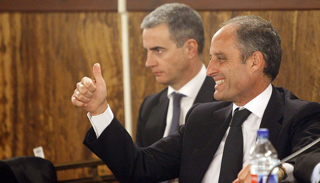 Francisco Camps y Ricardo Costa, durante el juicio