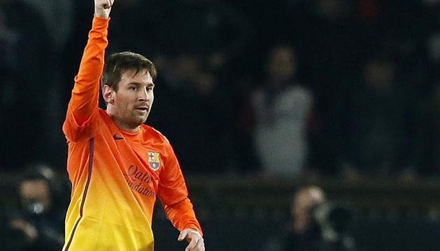 Messi, tras marcar en la ida ante el PSG.