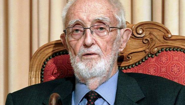 El escritor José Luis Sampedro en julio de 2010