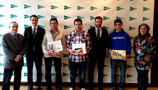 Los ganadores del concurso.