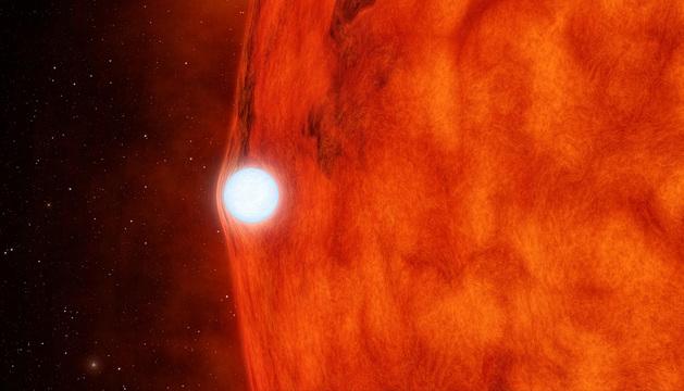 Imagen de una estrella blanca vista desde el observatorio de la NASA.