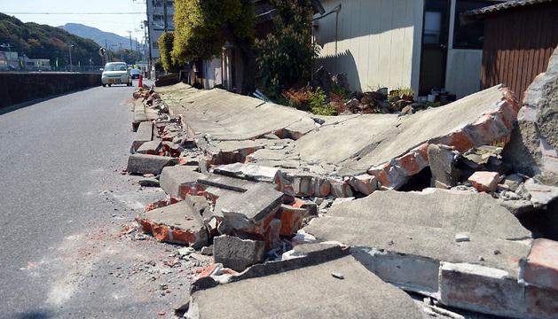 El seísmo ha causado daños de poca importancia en Sumoto.