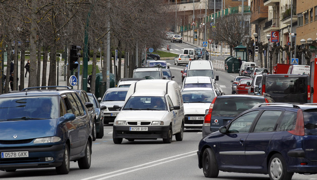 Imagen de tráfico en Pamplona