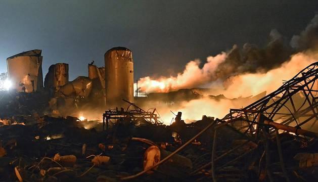 Explosión en una fabrica de fertilizantes en Texas (EE UU).