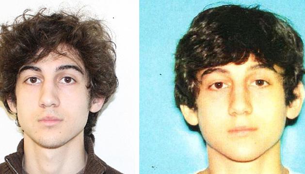 Imágenes del sospechoso buscado, Dzhokhar Tsarnaev.
