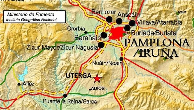 Mapa del lugar donde se ha registrado el epicentro del seísmo