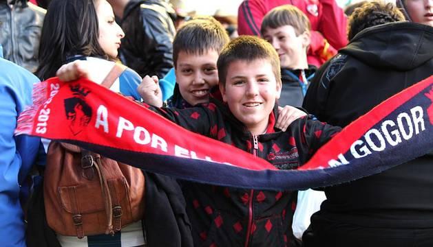 Imágenes de los aficionados en el partido que enfrentó a Osasuna con la Real Sociedad