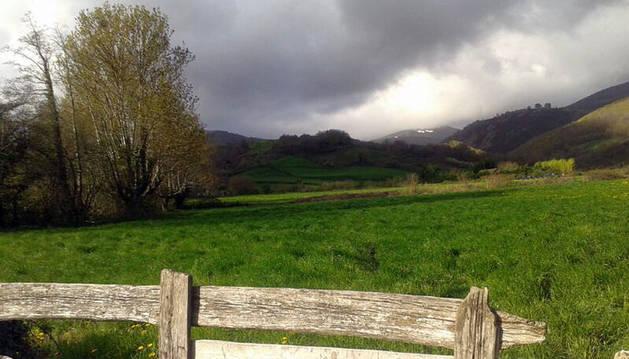 Nubes en el norte de Navarra.