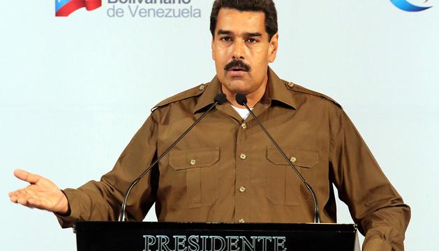 Nicolás Maduro durante las declaraciones sobre los cambios en su gabinete ministerial.