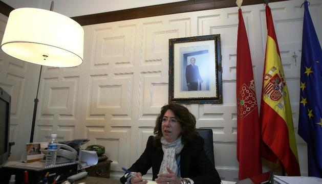 Carmen Alba, en su despacho