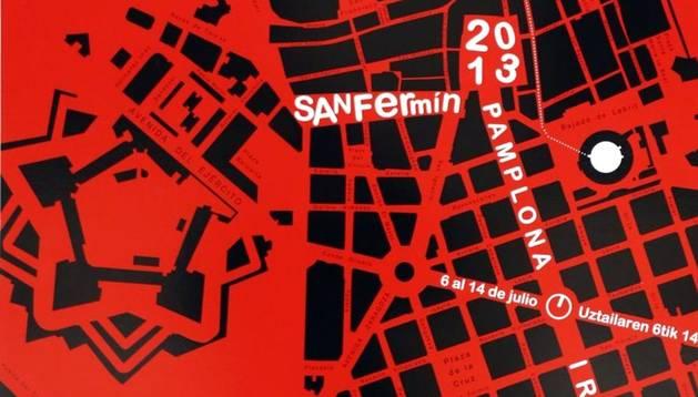 'Canan', cartel que anunciará las fiestas de San Fermín 2013