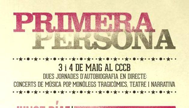 Cartel del festival 'Primera persona'