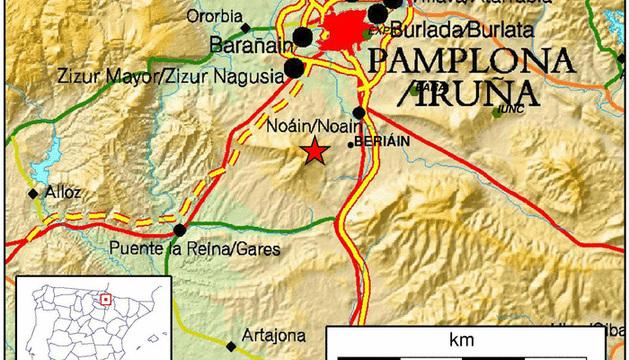 Imagen del lugar exacto donde se ha producido el temblor.