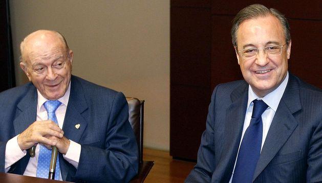 Alfredo Di Stefano junto a Florentino Pérez.